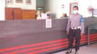 Ajun Inspektur Polisi Selamet melaksanakan PAM terbuka di Kantor Pos Seginim