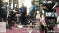 Pelapor dan anggota Unit Reskrim Polsek Seginim bersama BB berupa sepeda motor dan dua ekor bebek