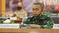 Asisten Teritorial (Aster) Kasad Mayjen TNI Bakti Agus Fadjari SIP MSi memimpin Rakornis virtual TMMD ke-108