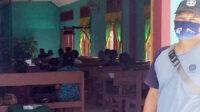 Kanit Intelkam Polsek Seginim, Aipda Syaiful melaksanakan PAM terbuka di Gereja Maturia, Desa Suka Negeri, Minggu pagi