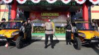 Kapolda Kalteng diapit dua mobil pemburu api tipe komodo