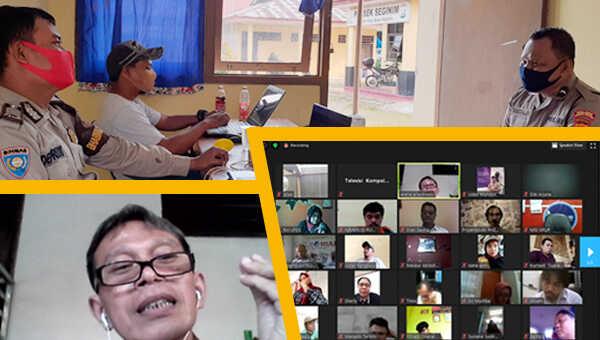 Situasi virtual class LPDS di kantor redaksi KompolmasTV