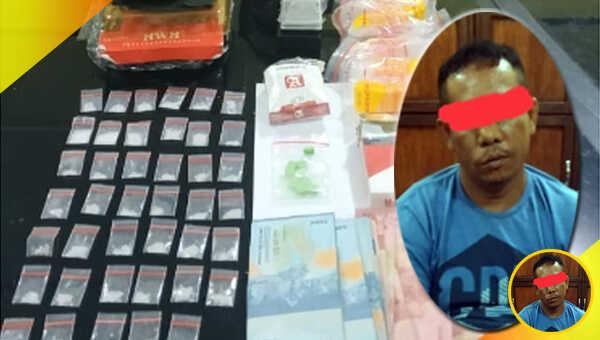 Bandar narkotika jenis sabu berinisial MA dilabrak Tim Hanoman Satuan Reserse Narkoba Polres Bangka Barat, Polda Babel