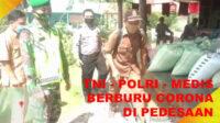 Polsek Pino Raya dibantu Koramil 0408-01 Pino, Puskesmas Tungkal dan Puskesmas Pagar Gading menggelar patroli kesehatan di seluruh desa
