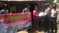 Sebanyak 20 karung beras didistribusikan Polsek Kedurang Polres Bengkulu Selatan Polda Bengkulu kepada masyarakat kurang mampu dan terdampak pandemi Covid-19 di empat desa