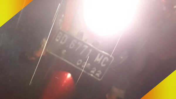 Yamaha Fino BD 6771 MC yang digunakan pelaku saat beraksi
