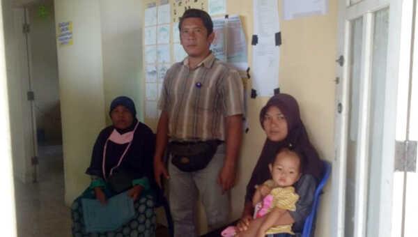 Pendamping dan keluarga pasien mengunjungi Baznas Kabupaten Bengkulu Selatan