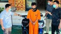 BS ditangkap polisi beberapa jam pasca melakukan pencurian sepeda motor (Curanmor), dan belum sempat menjual hasil jerih-payahnya tersebut