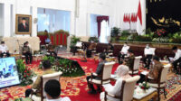 Presiden Joko Widodo, dalam Sidang Paripurna Kabinet, tentang Penanganan Kesehatan dan Pemulihan Ekonomi untuk Penguatan Reformasi Tahun 2021, meminta jajarannya menyikapi dan mengantisipasi penyebaran pandemi Covid-19 di klaster Pilkada serentak mendatang.