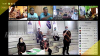 Pengukuhan serentak delapan DPW IMO-Indonesia di tengah pandami Covid-19 dilakukan secara virtual, Kamis siang