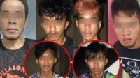 Enam tersangka pembunuh ini adalah Sya (32), Naw (30), Don (20), Hae (18), Ilh (19) dan Alb (25). Mereka ditangkap di dua wilayah berbeda, yakni Gorontalo dan Sulawesi Barat