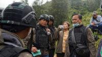 Ketua Tim TGPF Intan Jaya, Benny J Mamoto saat berada di Sugapa, Kabupaten Intan Jaya, Papua, Sabtu pagi