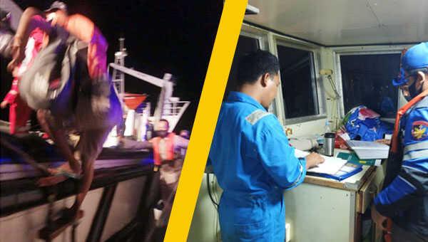 Satpolair dan instansi terkait segera melakukan evakuasi. Seluruh penumpang dan awakselamat, diangkut menggunakan Kapal KPLP KN Kalian menuju Pelabuhan Tanjung Kalian