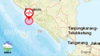 Gempa Bumi 5,3 SR Guncang Seluma Bengkulu sore ini