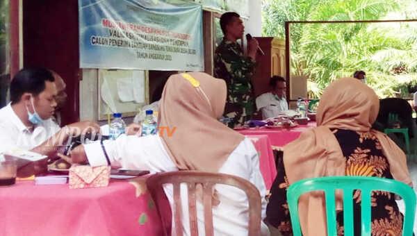 Sambutan Babinsa mewakili Danramil 0408-01