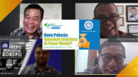 Webinar bertajuk Dana Pekerja Amankan Investasi di Pasar Modal, digelar Lembaga Pers Dr Soetomo, Selasa siang