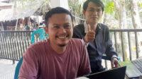 PLD dan Perangkat Desa Dusun Tengah saat merekap calon penerima BLT dana desa 2021
