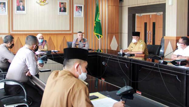 Rapat koordinasi Pemprov Bengkulu, Pemkot Bengkulu dan Polda Bengkulu terkait rencana pembangunan jaringan ETLE