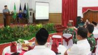 Rapat koordinasi bersama KONI Provinsi Bengkulu dan Ketua Binpres 17 Cabor menuju PON XX Papua, di Balai Raya Semarak, Bengkulu
